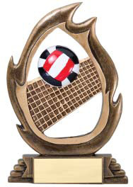 Volleyball Flame Series Trophy