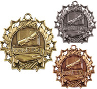 Honor Roll Ten Star Medal - Gold, Silver & Bronze | Scholastic 10 Star Award | 2.25 Inch Wide