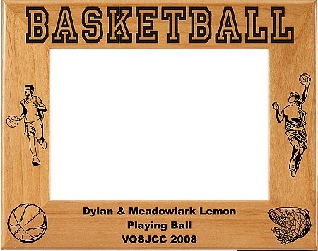 Laser Engraved Horizontal Male Basketball Picture Frame ...