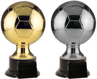 Soccer Ball Full Size Resin Trophy - Gold / Silver S-SBR