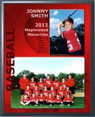 Baseball Memory Mate Plaque - Personalized