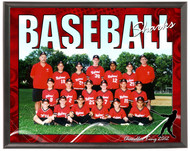Baseball Team Plaque SV4-T01 - Personalized