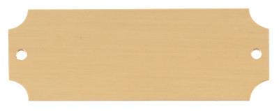 "Engraved Perpetual Metal Plate - Gold with black lettering Standard - 1"" x 2.5"""