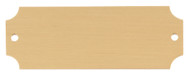 """Engraved Perpetual Metal Plate - Gold with black lettering Standard - 1"""" x 2.5"""""""