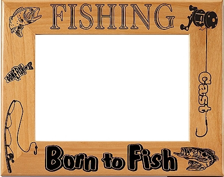Born to Fish Picture Frame