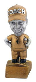 Pewter Coach Bobblehead Trophy - Male