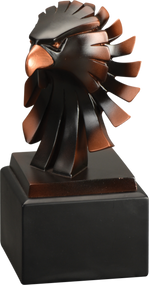 Eagle  Award |  Bronze Eagle Head Resin Trophy | 6, 7, 8 and 9 Inch Tall