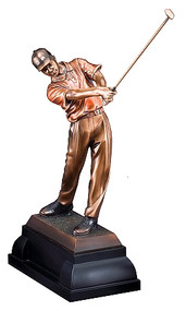 Golf Figure Swing Gallery Sculpture - Male RFB069