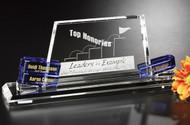 Goal-Setter Alameda Crystal Corporate Award - Blue Color Blocks