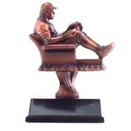 Baseball Fantasy League Armchair Trophy | Fantasy Baseball League Award | 6.5 Inch Tall