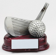 Silver Resin Wedge and Ball Trophy RFG831