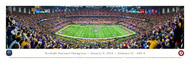 2012 Football National Championship Panorama Print - Unframed