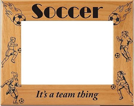 Laser Engraved Vertical Girls Soccer Picture Frame | Laser Engraved ...