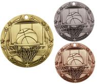 Basketball World Class Medal - Gold, Silver & Bronze