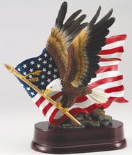 Eagle Holding Flag Trophy