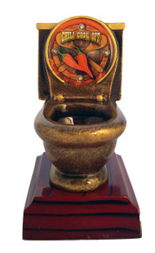 Chili Cook-Off Toilet Bowl Trophy