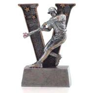 Baseball Action V Series Resin Trophy