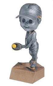 Pewter Tennis Bobblehead Trophy - Female