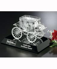 "Stagecoach on Black Base Crystal Corporate Award - 4.5"""