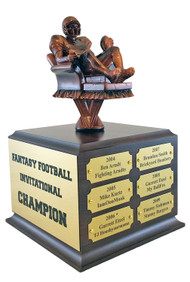 Fantasy Football Armchair Quarterback Perpetual Trophy | FFL Award | 10.5 Inch Tall