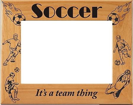 Laser Engraved Vertical Boys Soccer Picture Frame | Laser Engraved ...