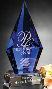 "Azurite Crystal Corporate Award – 6.75"""