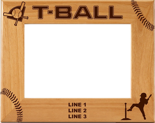 Personalized T-Ball Picture Frame | Tee Ball Laser Engraved Frame