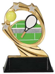 Tennis Cosmic Resin Trophy   Tennis Court Award   6 Inch - Clearance