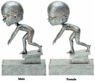 Swimming Bobblehead Trophy - Male / Female