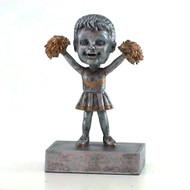 """""""Rock 'n Bop"""" Cheerleader Bobblehead Trophy"""