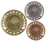Basketball Galaxy Medal - Gold, Silver & Bronze | Hoops Award | 2.25 Inch Wide