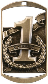 Gold 1st Place Dog Tag Medal
