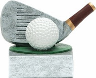 Golf Club and Ball Color Tek Trophy