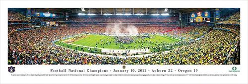 2011 Football National Championship Panorama Print - Unframed