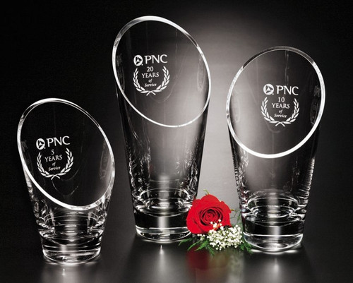 Westcott Vase Crystal Award Corporate Award Crystal Personalized