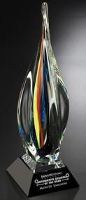"Majesty Art Glass Corporate Award – 19.75"""