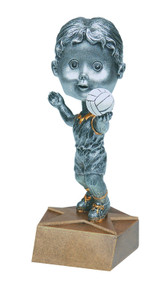 Pewter Volleyball Bobblehead Trophy