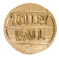 Volleyball Lapel Pin   Letter Jacket Chenille Pin - CHEN167