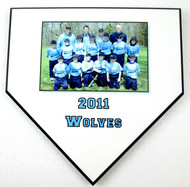 Team Photo Baseball Home Plate Plaque