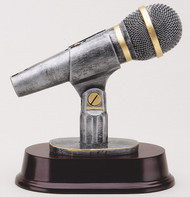 Microphone Resin Sculpture Trophy