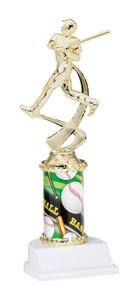 Baseball Sport Motion Figure w/Sports Column Trophy