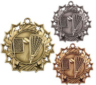 Lacrosse Ten Star Medal - Gold, Silver & Bronze | La Crosse 10 Star Award | 2.25 Inch Wide