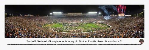 2014 Football National Championship Panorama Print - Unframed