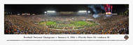 2014 Football National Championship Panorama Print - Unframed