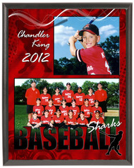 Baseball Memory Mate Plaque 2 - Personalized