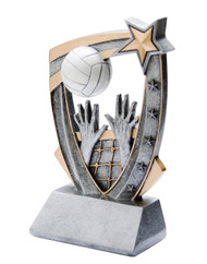 Volleyball 3-D Star Resin Trophy