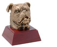 Sculptured Bulldog Mascot Trophy