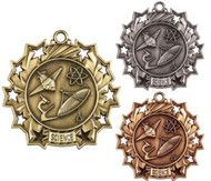 Science Ten Star Medal - Gold, Silver & Bronze | Scientific 10 Star Award | 2.25 Inch Wide