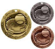 Baseball World Class Medal - Gold, Silver & Bronze