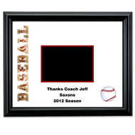 Baseball Autograph Frame - Personalized with message